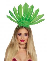 Coiffe brésilienne verte femme