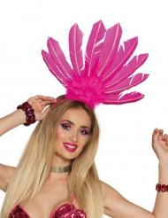 Coiffe brésilienne rose femme