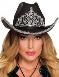 Chapeau princesse cowboy noir femme