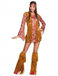 Déguisement hippie Peace à franges femme