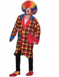 Veste clown à carreaux adulte