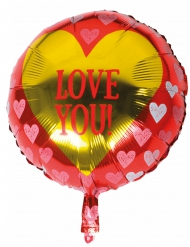 Ballon aluminium Love you 45 cm