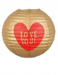 Lanterne en papier Love you 25 cm