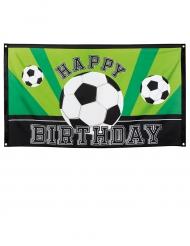 Bannière Happy birthday Foot party 90 X 150 cm