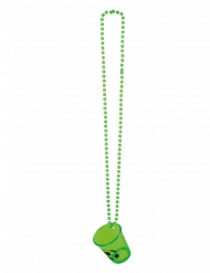Collier verre shooter football
