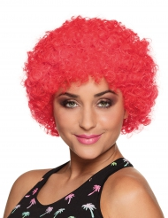 Perruque afro/clown rouge standard adulte