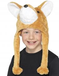 Bonnet en peluche renard enfant