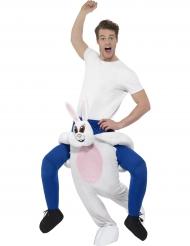 Déguisement homme à dos de lapin adulte