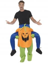 Déguisement homme à dos de citrouille effrayante adulte Halloween