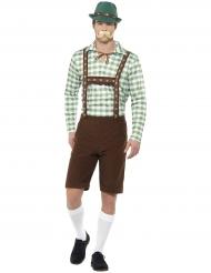 Déguisement bavarois vert et marron adulte