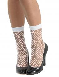 Chaussettes résille blanches femme