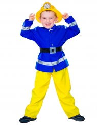 Déguisement Pompier bleu et jaune enfant