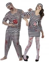 Déguisement de couple Prisonniers Zombie Halloween