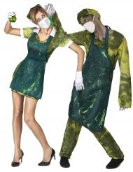 Déguisement de couple médecins radioactifs Halloween