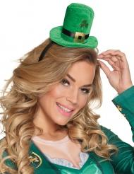 Mini chapeau haut de forme avec boucle dorée adulte Saint Patrick