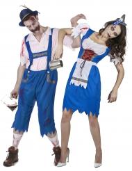 Déguisement de couple bavarois zombie Halloween