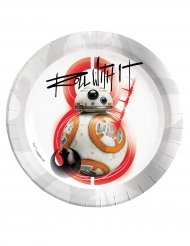 8 assiettes BB-8 Star Wars 8 The Last Jedi ™ 23 cm