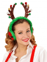 Cache oreilles renne adulte Noël
