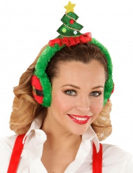 Cache oreilles sapin adulte Noël