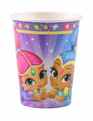 8 Gobelets en carton Shimmer & Shine ™ 250 ml
