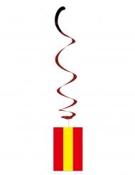 Lot de 6 suspensions métallisées drapeau Espagne