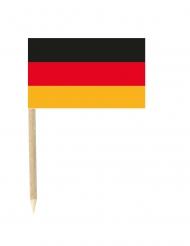 Lot de 50 drapeaux mini-piques Allemagne 3 x 5 cm