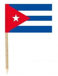 Lot de 50 drapeaux mini-piques Cuba 3 x 5 cm