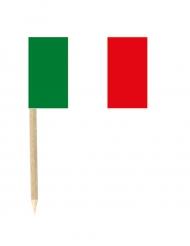 Lot de 50 drapeaux mini-piques Italie 3 x 5 cm