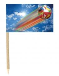 Lot de 50 drapeaux mini-piques Ballon filant 3 x 5 cm