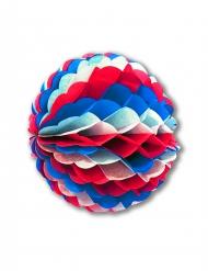 Boule en papier alvéolé bleu blanc rouge 50 cm