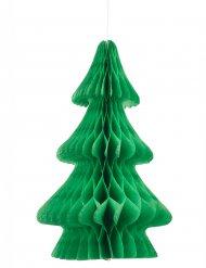 Centre de table sapin papier ignifugé vert 24 cm