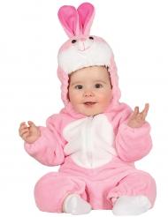 Déguisement lapin rose combinaison bébé