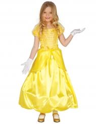 Déguisement princesse enchantée jaune fille