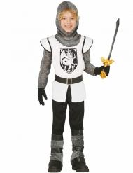 Déguisement chevalier blanc en cotte de maille garçon