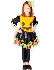 Déguisement citrouille en tulle coloré fille Halloween