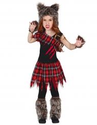 Déguisement loup-garou du campus fille Halloween