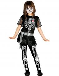Déguisement shiny squelette fille Halloween