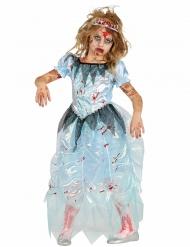 Déguisement zombie princesse bleue fille Halloween