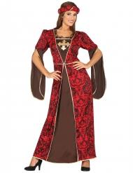 Déguisement courtisane médiévale femme