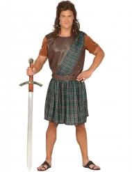 Déguisement écossais vert et marron homme