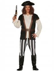 Déguisement capitaine pirate rayé homme