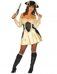 Déguisement pirate doré sexy femme