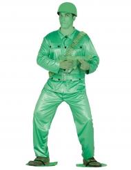 Déguisement petit soldat vert adulte