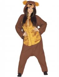 Déguisement combinaison ours brun adulte