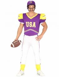 Déguisement footballeur américain violet et blanc adulte