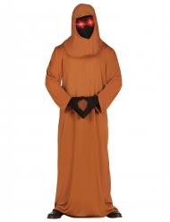Déguisement moine lugubre avec yeux LED adulte