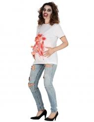 T-shirt femme enceinte ensanglantée adulte Halloween