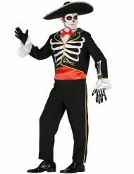 Déguisement mariachi squelette homme Dia de los muertos