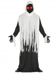 Déguisement fantôme avec yeux LED adulte Halloween