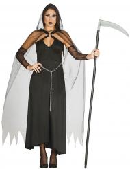 Déguisement faucheuse noire sexy femme Halloween